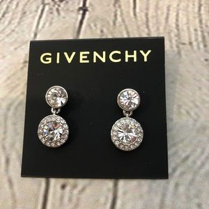 Givenchy Earrings Pave Drop Authentic